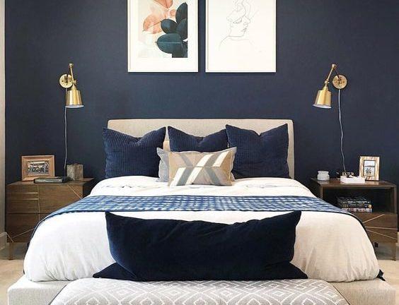 35 Donkerblauwe Slaapkamer Ideeen Woonfabrique Nl