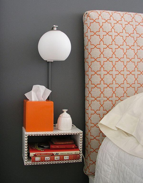 zwevend nachtkast ideeën en voorbeelden van een cubus aan de muur