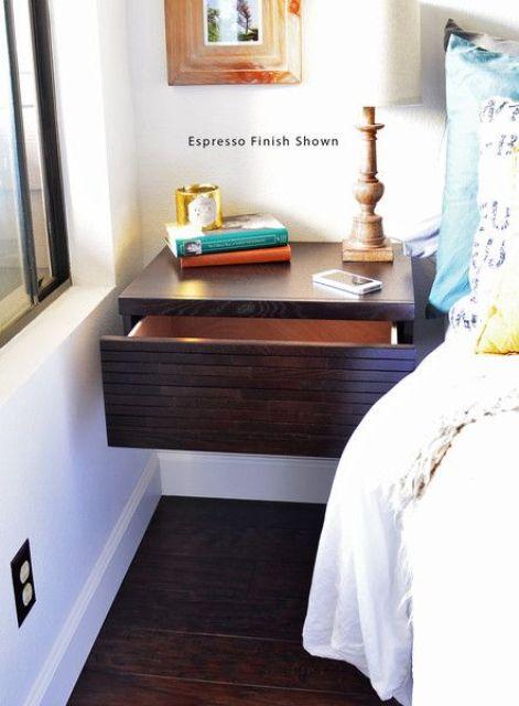 modern zwevend nachtkast ideeën en voorbeelden van een nachtkast met lade